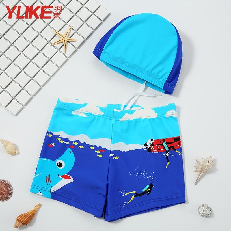 CHILDREN'S Swimming Trunks BOY'S Boxer Bathing Suit Tour Bathing Suit Hooded Baby Bathing Suit Boy Split Type Swimwear Big Boy S