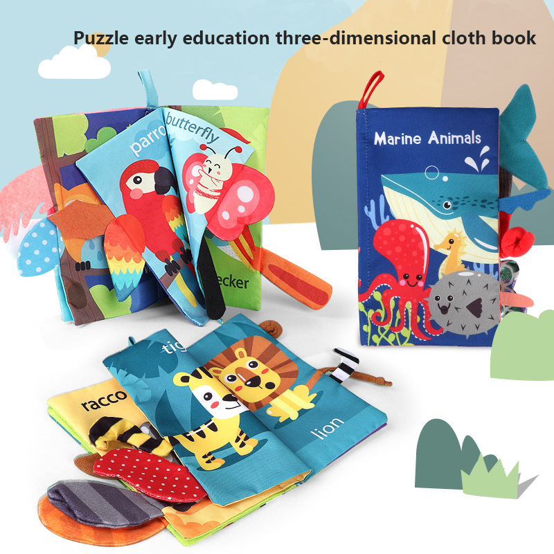Cloth Book Baby Toys 0 6 12 Months Early Educational Infant Cognize Toddler Reading Learning Language Newborn Knowledge Kids Toy