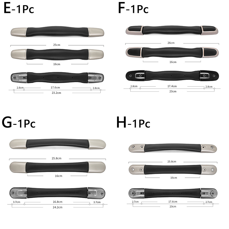 Luggage suitcase replacement handle