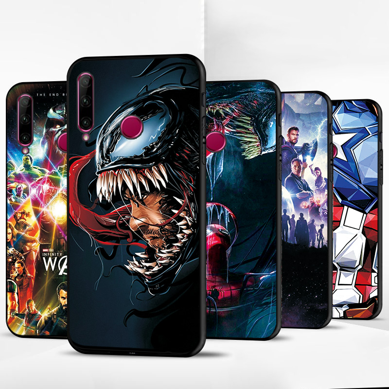 Cover For Huawei <font><b>Honor</b></font> <font><b>10i</b></font> Black TPU <font><b>Case</b></font> Cover <font><b>Honor</b></font> <font><b>10i</b></font> 10 10 Lite Marvel Heroes Phone <font><b>Case</b></font> For Huawei <font><b>Honor</b></font> <font><b>10i</b></font> Back Cover image