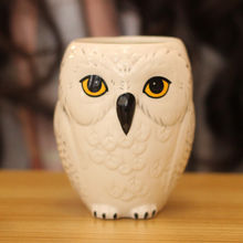 1 Piece Ceramic Creative 3D Owl Mug White Tea Cup Drinkware Gift for Friend 12cm