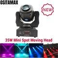 Супер яркий светодиодный 35 Вт мини-точечный светильник с подвижной головкой Gobo цветной колесный сценический светильник s Disco вечерние проже...
