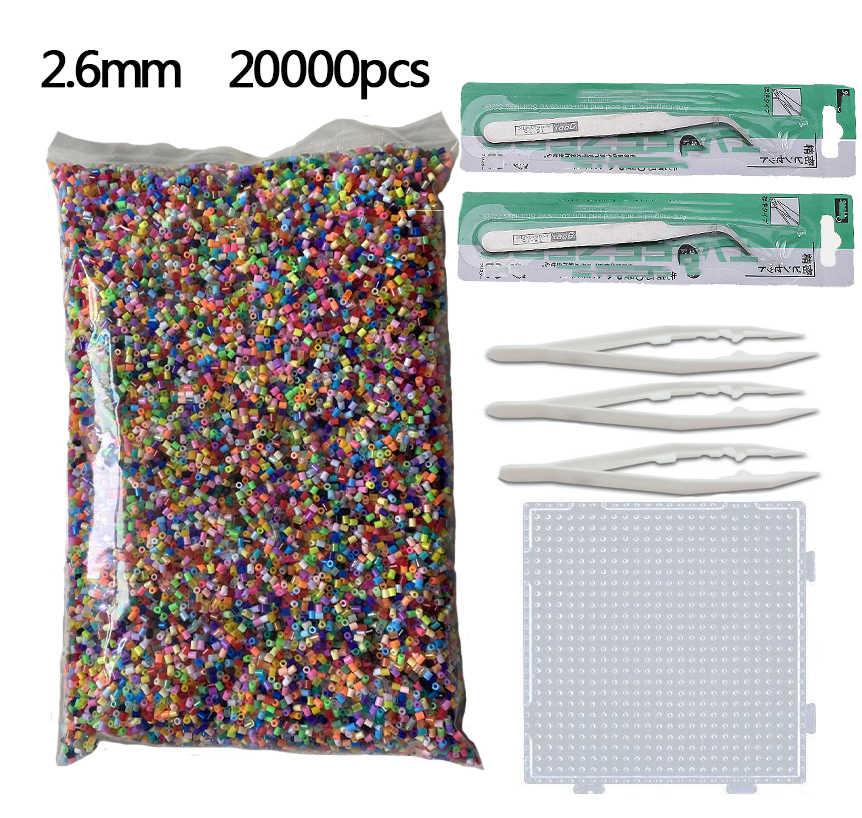 20000 قطعة 2.6 مللي متر حماة الخرز (1 قالب 3 ورقة الحديد 2 الملقط) حماة صغيرة فيوز الخرز للأطفال ألعاب تعليمية شحن مجاني