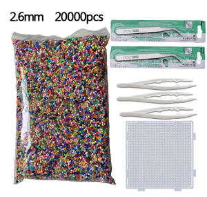 20000pcs 2.6mm Hama Beads (1 Template+3 Iron Paper+2 Tweezers)Mini Hama Fuse Beads Diy Kids Educational Toys Free shipping