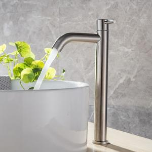 Image 3 - G1/2 304 aço inoxidável único frio rapidamente aberto cozinha/torneira da bacia ferrugem e resistência à corrosão pia do banheiro água