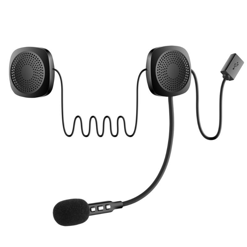 Motorcycle Bluetooth 4.2 Helmet Headset Wireless Interphone Intercom W/Mic Walkie Talkie With Accessories