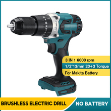 13mm 3 in 1 2 Speed Brushless Electric Drill Hammer Cordless Screwdriver 20+3 Torque