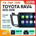 JIUYIN для Toyota RAV4 4 XA40 5 XA50 2012 - 2018 автомобильный Радио Мультимедиа Видео плеер навигация GPS No 2din 2 din dvd