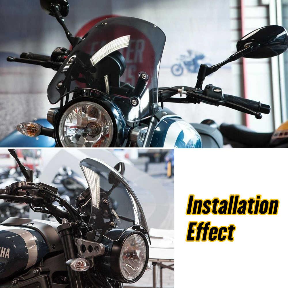 Nuevo Deflector de Aire de pl/ástico ABS para Harley Touring 96-13 NATGIC Parabrisas Lateral Ajustable para Motocicleta