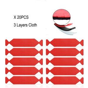 Image 1 - Foshio 20pcs 비닐 랩 카드 스퀴지 스페어 3 레이어 방수 패브릭 가장자리 자동차 창 색조 스크레이퍼 천 탄소 섬유 수호자