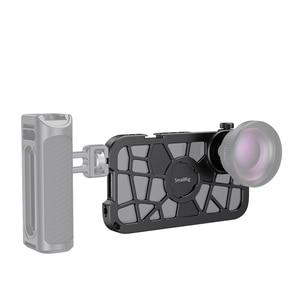 Image 2 - SmallRig Pro נייד כלוב עבור iPhone X/XS הדוק Vlogging וידאו ירי כלוב עם קר נעל הר 2414