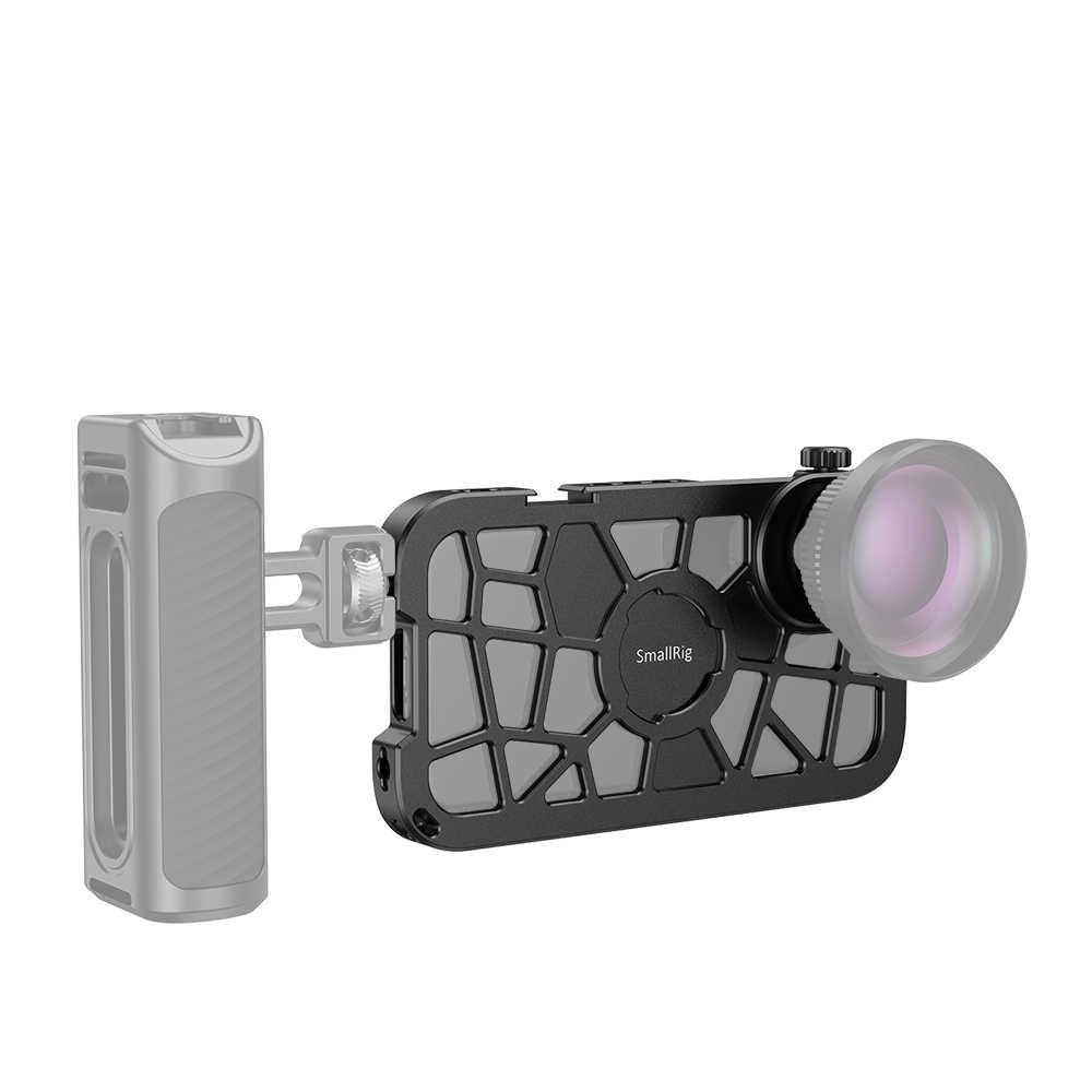 Smallrig Pro Ponsel Kandang untuk iPhone X/XS Pas Vlogging Video Shooting Kandang dengan Dingin Sepatu Gunung-2414