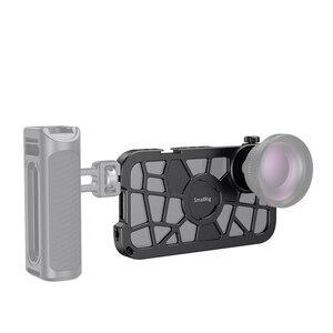 Image 2 - Smallrig pro gaiola móvel para o iphone x/xs forma encaixe vlogging gaiola de tiro de vídeo com montagem de sapata fria 2414