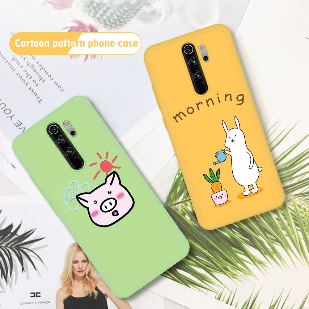 Cartoon Avocado Phone Case For Xiaomi Redmi Note 8 8Pro TPU Silicone Cover For Xiaomi Redmi K30 Pocof2 Mi 9T Pro Soft Cases