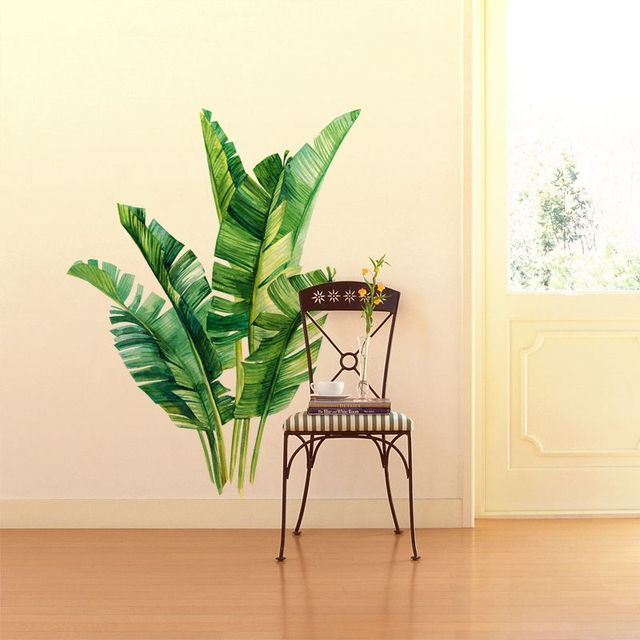 Green Plant Tropical Wall Stickers 2