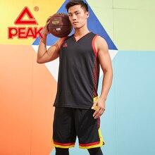 Пик мужские баскетбольные соревнования наборы 2 шт полиэстер дышащий жилет Топ+ шорты летние уличные спортивные костюмы шорты для бега