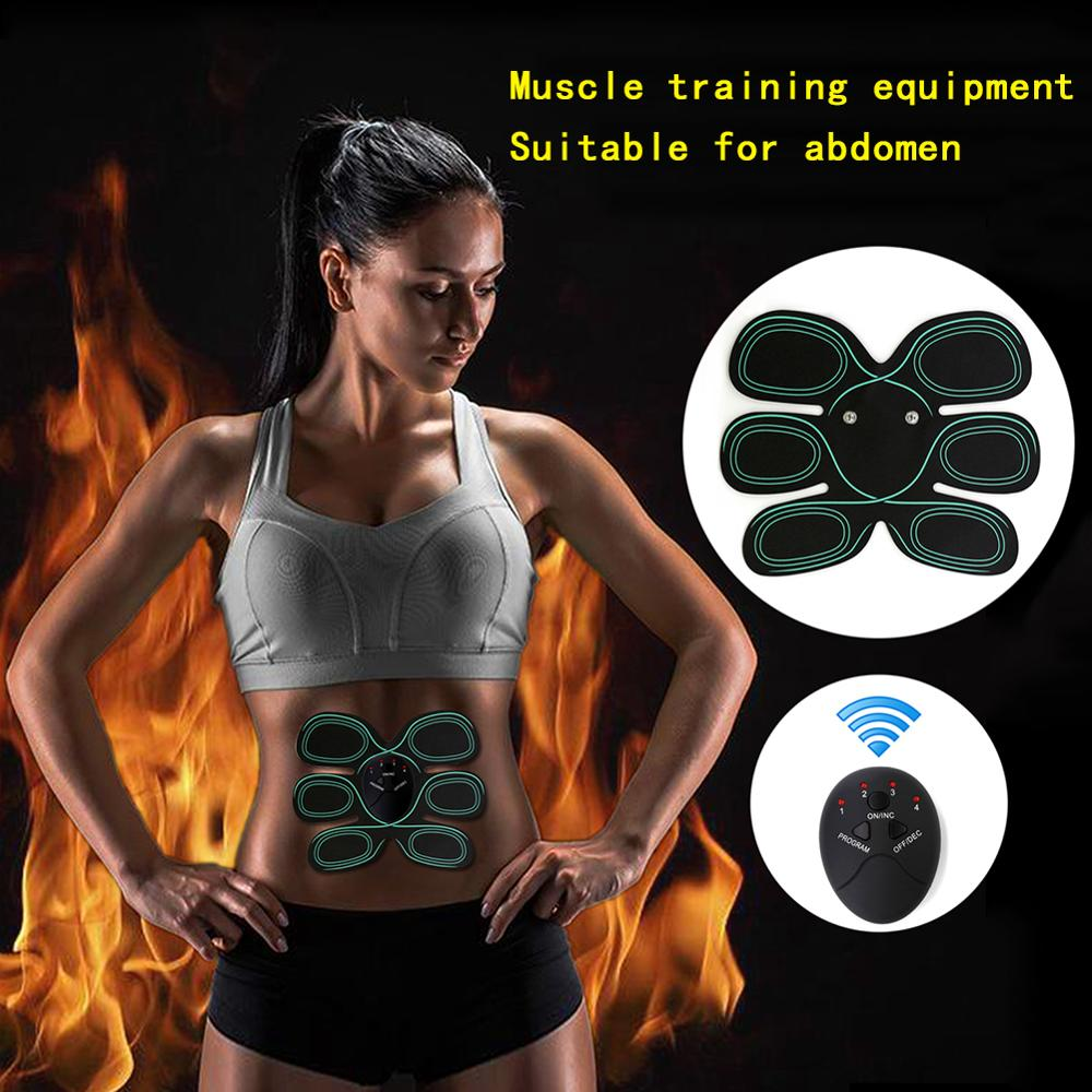 Rechargeable Wireless Abdominal Trainer Muscle Stimulator Smart Fitness Loss Sticker Weight Belt Body Slimming Belt Unisex