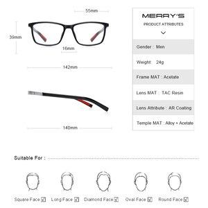 Image 4 - MERRYS DESIGN Männer Luxus Acetat Gläser Rahmen Myopie Brillen Frühling Scharnier Silikon Tempel Spitze S2518
