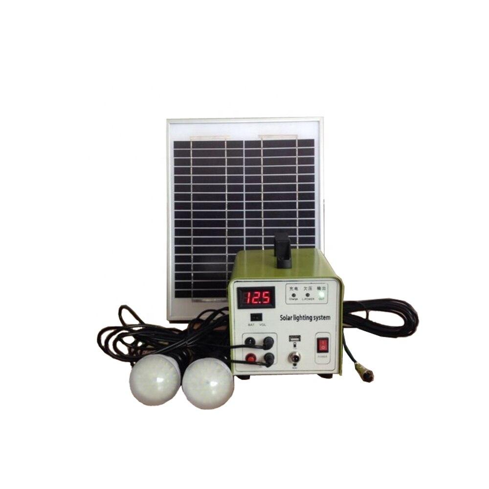 Fine 10w Mini Portable Led Home Lighting Solar System