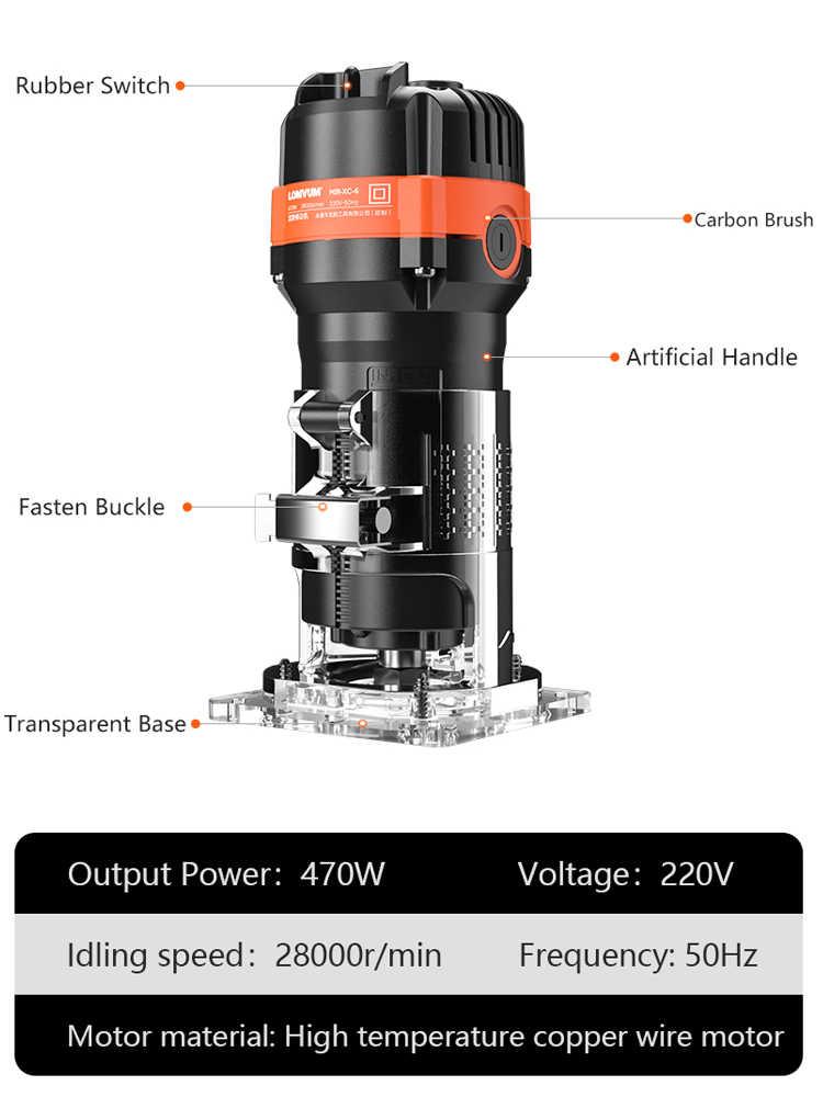Fresadora de madera LOMVUM de 28000 rpm, fresadora, herramienta de carpintería, ranura de carpintería, fresadora, fresadora eléctrica