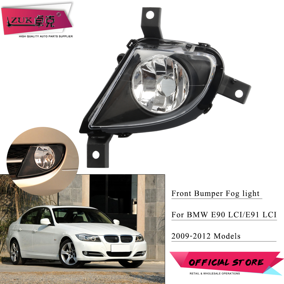 ZUK For <font><b>BMW</b></font> <font><b>E90</b></font> E91 LCI 2009-2012 <font><b>Front</b></font> Bumper Fog <font><b>Light</b></font> Fog Lamp Anti-Fog Lamp For 318 320 325 328 330 335 Not For M Sport Car image