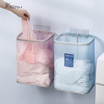OYOREFD Wall Mounted Breathable Laundry Basket Foldable Dirty Clothes Basket Bathroom Clothes Storage Baskets Laundry Organizer