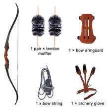 60 polegada caça arco tiro com arco recurvo takedown arco longbow para destro riser de madeira para tiro com alvo