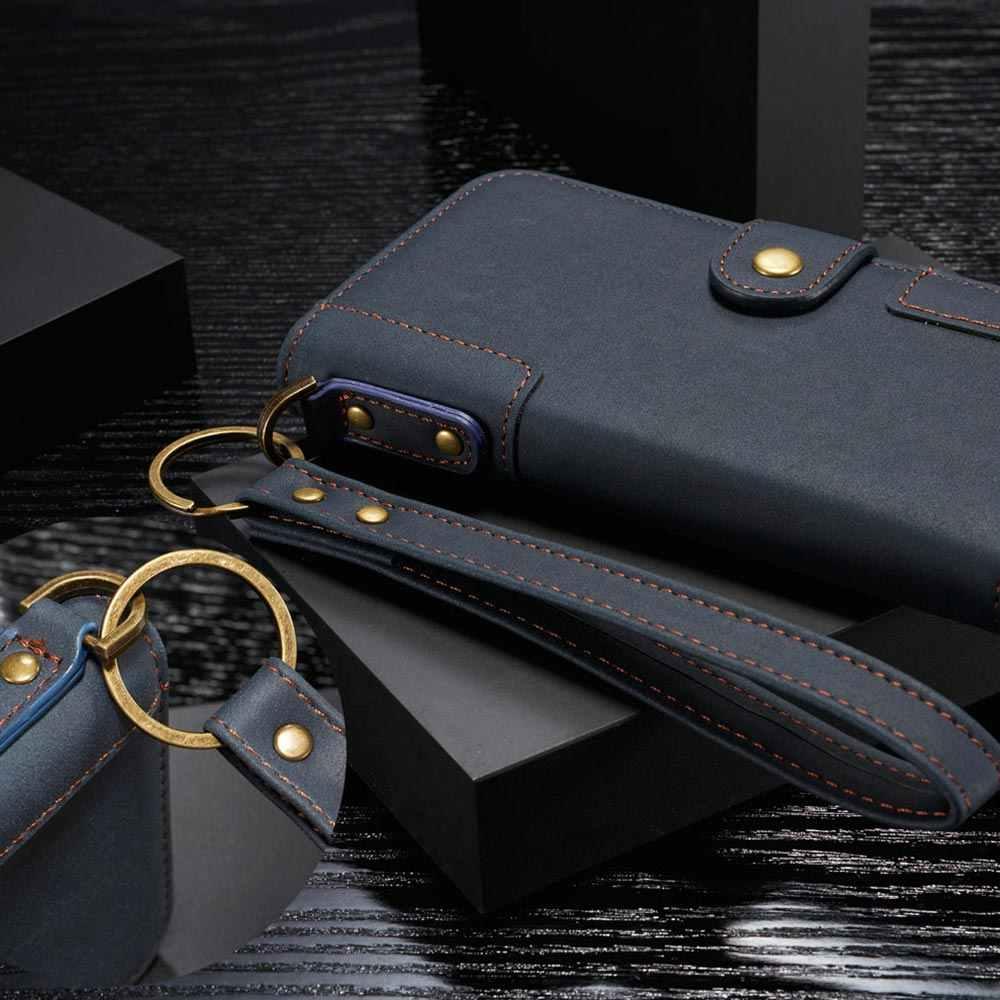 Floveme Bao Da Ví Da Lộn Cho Samsung A50 A20 A30 A40 S9 S8 A20E S7 S6 Retro Lưng Dành Cho samsung Note 10 8 9 Plus Ốp Lưng