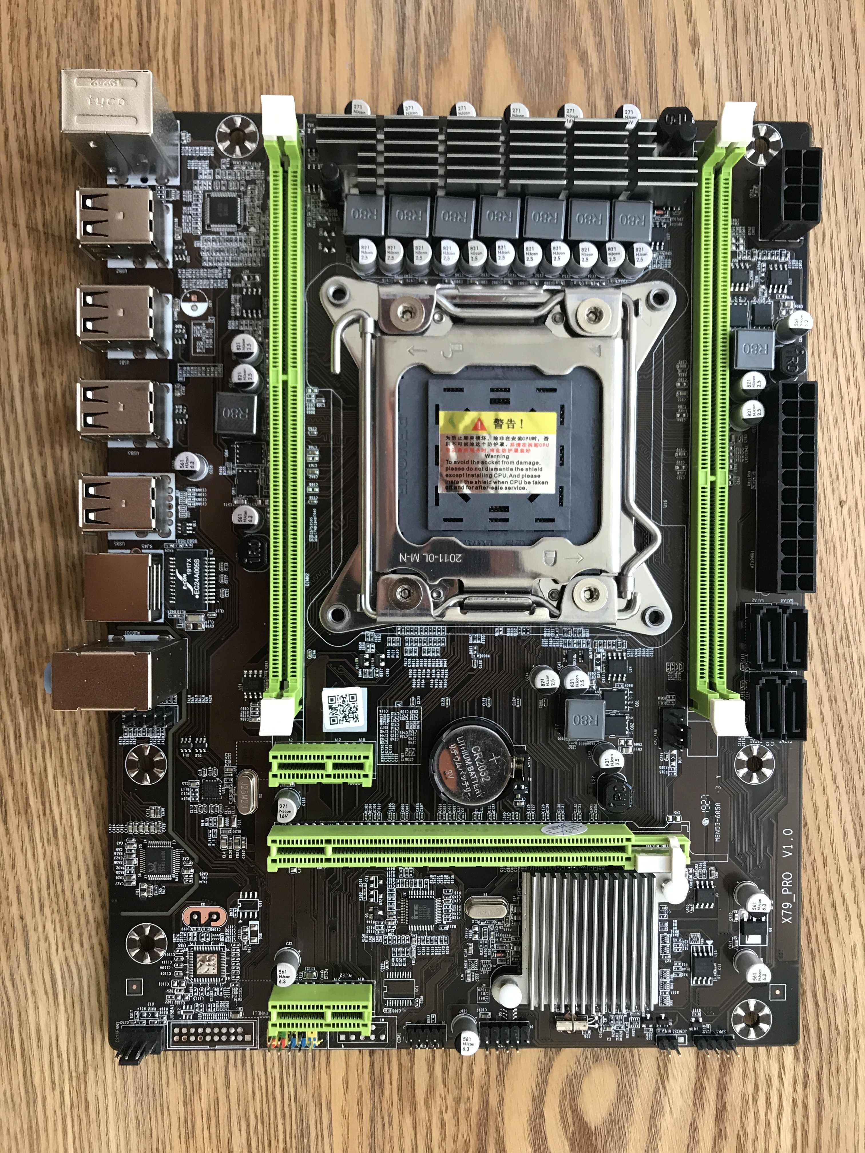 Atermiter X79 اللوحة مجموعة مع LGA2011 المجموعات زيون E5 2630V2 CPU 2 قطعة x 4GB = 8GB الذاكرة DDR3 RAM 1600Mhz PC3 12800R PCI-E