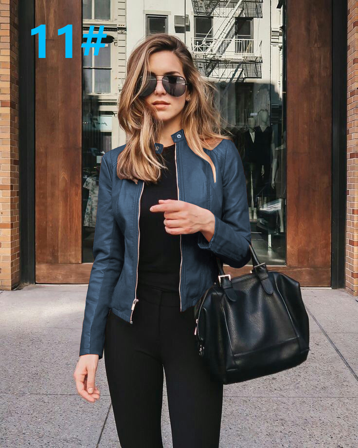 H83f60dc324714a02b2c3aa8a0dd0d411p 2021 Women Winter Coat Jacket Thicken Fashion Long sleeve Outwear PU Leather Jacket warm Coats For Women Autumn Women's Clothing
