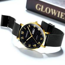 цена на New Brand Watch Men Military Sport Business Quartz WristWatch Date Week Waterproof Stainless Steel Strap Clock Relogio Masculino