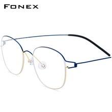 Titanium Legering Optische Brilmontuur Mannen Nieuwe Recept Brillen Korea Vrouwen Merk Designer Bijziendheid Schroefloos Eyewear 98618