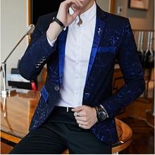Luxury Party Prom Blazer Shinny Yarn Wine Red Blue Black Contrast Collar Dress D