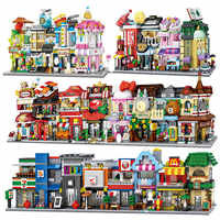 LOZ Mini Street View City Building Blocks DIY Assembly Educational Bricks 3D Architecture Model Store Shop Kids Gift Xmas Toys
