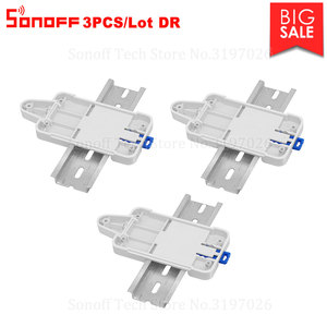 Image 1 - Itead 3PCS Sonoff DR DIN Rail Tray Mounted Adjustable Holder Cheap Solution for Most Sonoff Products Basic RF Pow TH10/16 Dual