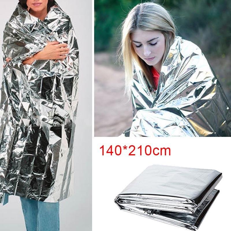 Portable Waterproof Emergency Space Rescue Thermal Mylar Blankets 1.4m X 2.1m LFX-ING