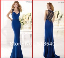 free shipping Cheap vestido de festa robe soiree 2016 new fashion hot sexy blue long beading Formal prom gown evening dress