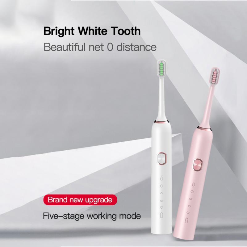 New Ultrasonic Automatic Electric Toothbrush Rechargeable Ultrasonic Washable Electronic Whitening Waterproof Teeth Brush