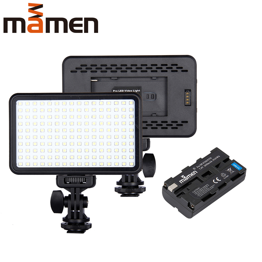 MAMEN Dimmable 160 LED Photographic Ring Light Lamp Video LED Studio Photo For Youtube Live Streaming on Phone DSLR Beauty Light image