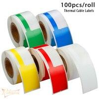 Pegatinas de etiqueta de Cable térmico, etiquetas adhesivas de red impermeable, Ethernet, organización de etiquetas, 78x100x30mm, 25/80 Uds. Por rollo