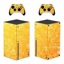 Styl linii seria Xbox X skórka naklejka na konsolę i 2 kontrolery naklejka winyl ochronny skórki styl 1