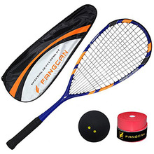 Full Carbon Professional Squash Racket Indoor High-Quality Blue Black Ultralight Squash Racquet Fangcan Racquets Ball Rackets цена и фото