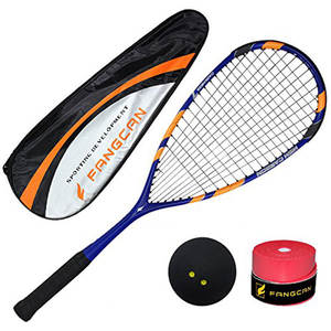 Full Carbon Professional Squash Racket Indoor High-Quality Blue Black Ultralight Squash Racquet Fangcan Racquets Ball Rackets