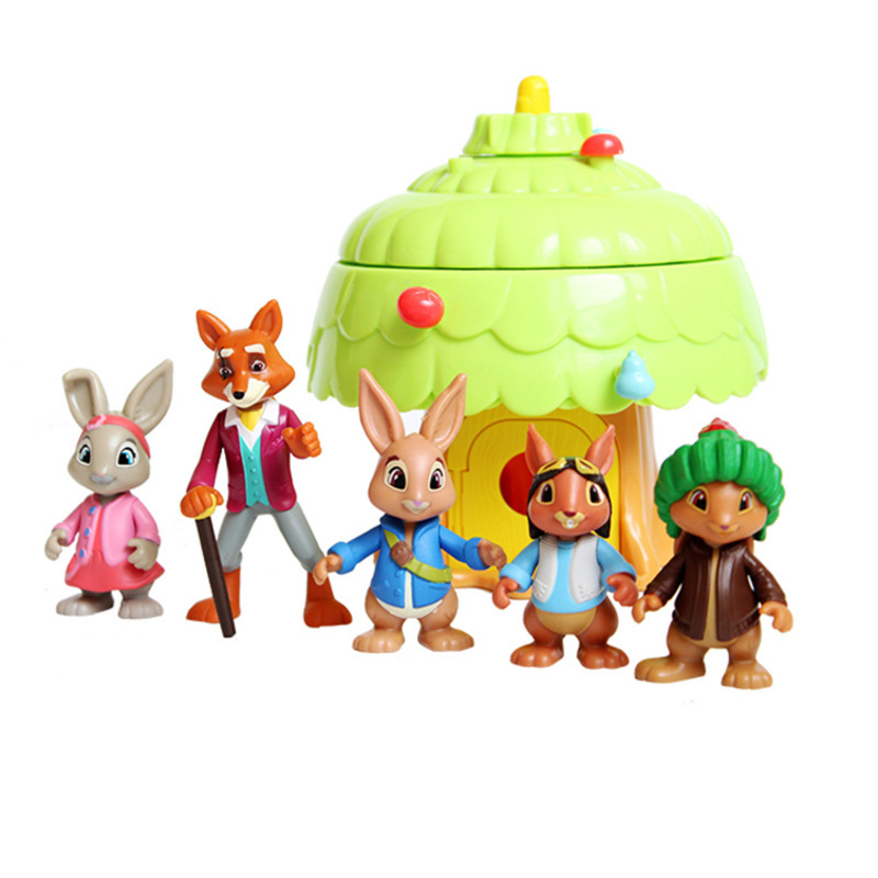 6-10cm Cartoon Peter Rabbit Anime Joint Dolls Lily Bottail Benjamin Bunny Squirrel Nutkin Kids Lovely Animal Figure Toy image