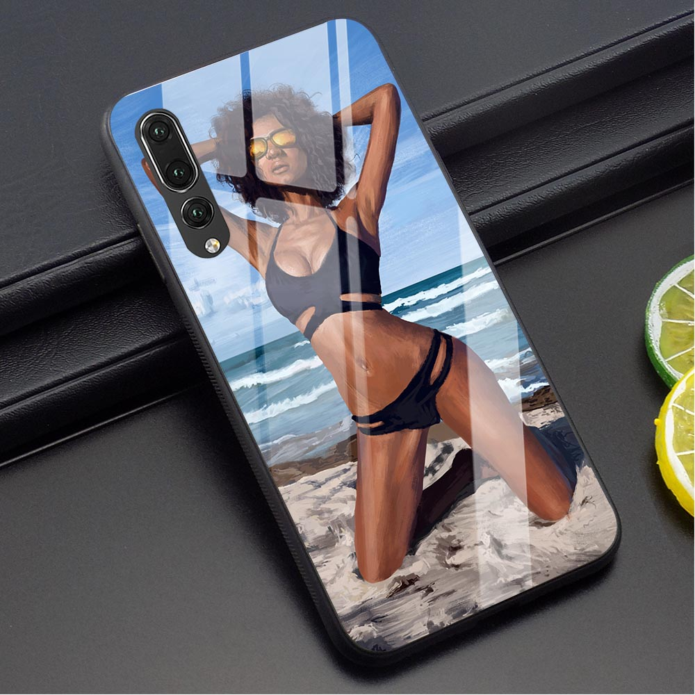 <font><b>Sexy</b></font> Underwear Bikini Woman Phone Cover for Huawei Honor 10 Lite Case P10 P20 P30 PRO P Smart <font><b>Mate</b></font> <font><b>20</b></font> Lite Honor 9 7A Glass image