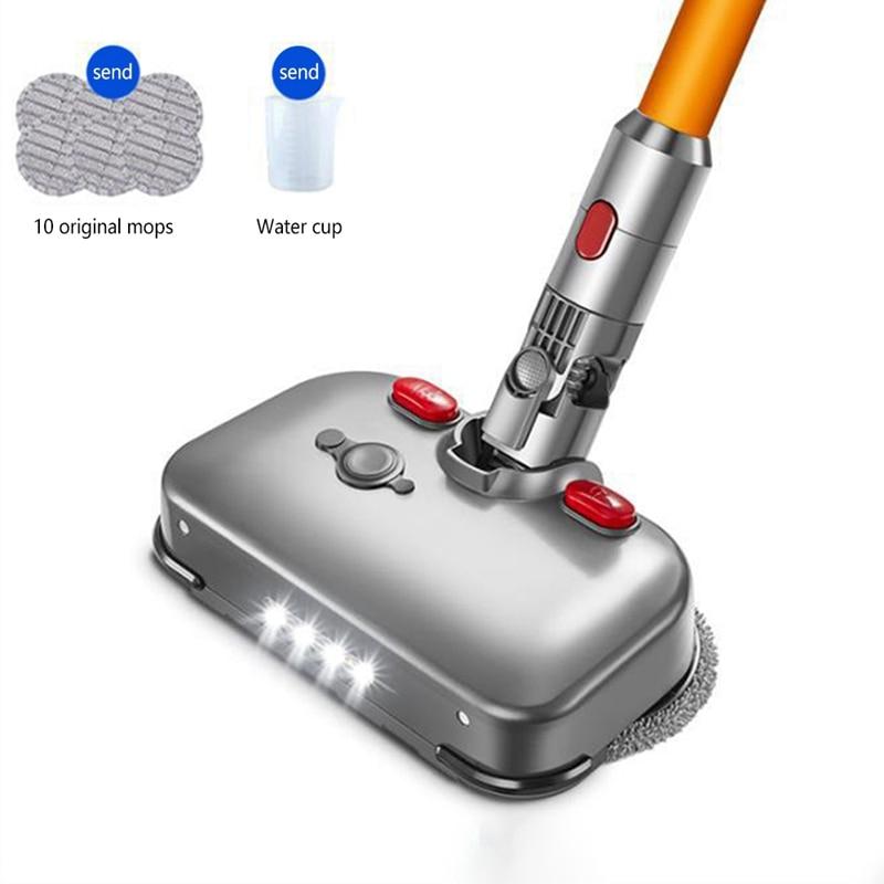 Сменная головка для электрической сухой и влажной швабры со светодиодный светильник кой для Dyson V7 V8 V10, сменные детали для чашки с подставкой