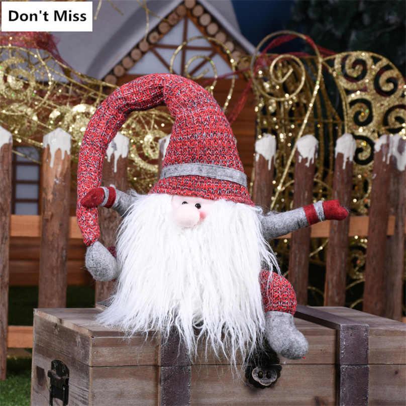 Navidad Figurine Decorazioni per La Casa di Natale di Natale Babbo Natale Bambole di Natale Nuovo Anno Adornos De Navidad Regalo di Natale per I Bambini