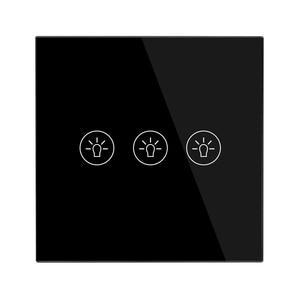Image 4 - Interruptor de toque de parede ligh padrão ue, interruptores de sensor de energia branco preto, ouro, vidro de cristal 1 2 3 gang 1 way do makerele