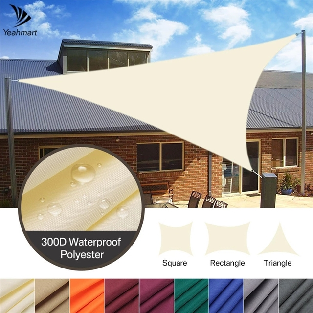 2/3/3.6/5M Heavy Shade Sail Sun Canopy Cover Outdoor Trilateral Garden Yard Awnings Waterproof Car Sunshade Cloth Summer