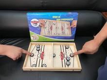 Juego de mesa de Hockey para niños y adultos, juguete de mesa de Hockey con disco duro y Honda, Winner, 2021